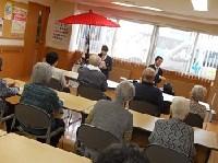 高校茶道部が老人ホームでお茶会を開催しました