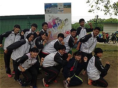 中学陸上競技部 男子4×100mR 全道3位!