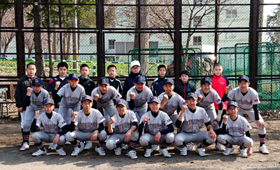 中学野球部江別市春季野球大会優勝