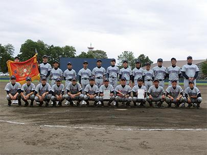 中学野球部 全日本少年軟式野球石狩支部大会優勝 全道大会進出!