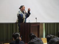 中学2年 「アイヌ文化ワークショップ・講演会」開催!