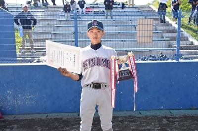 中学野球部 夏季江別市中体連優勝